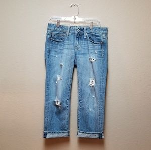 American Eagle 4 Boy Fit Distressed Cropped Jeans